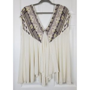 Free people v neck tunic top size M